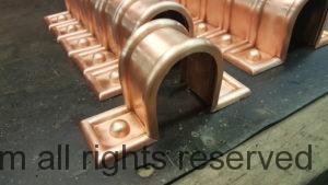 Radmont Radius Ornamental Copper Downspout Bands for any size Round Downspouts